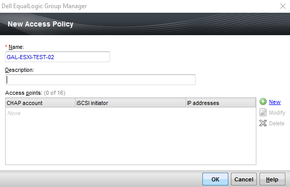 Group Manager Access Policies Name