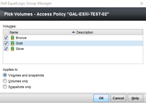 Group Manager Access Policies Target Select